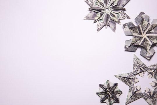 Money Origami snowflake