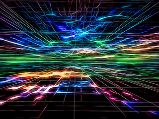Abstract tech bright background - digitally generated image