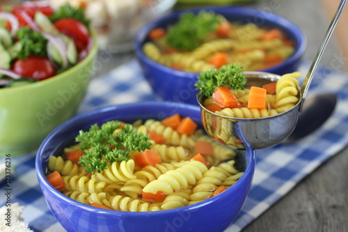 "bright delicious vegetable salad and pasta with vegetables"" Stok ..."