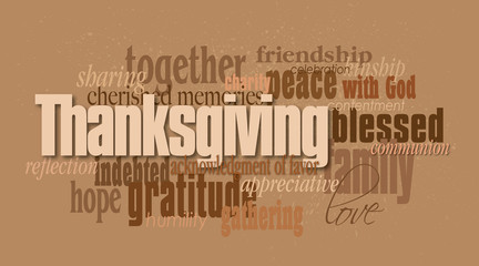 Thanksgiving holiday word montage