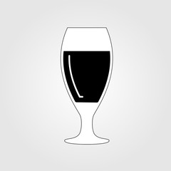 Vector illustration of beer glass