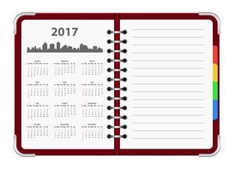 calendar 2017 notepad