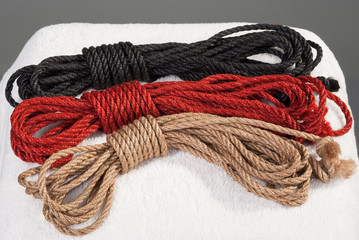 variegated ropes for bondage