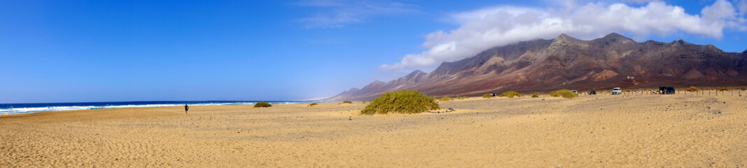 Famous beach Cofete on Fuerteventura, Spain.