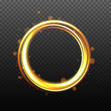 Quot Glow Light Effect Magic Gold Circle Gold Round Frame