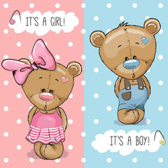 Teddy Bears boy and girl