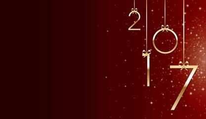 Bonne année 2017 rouge