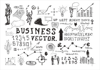 Doodle Business icons and words