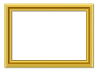 3to2 3:2 golden vector retro picture frame isolated on white background / bilderrahmen gold vektor retro isoliert