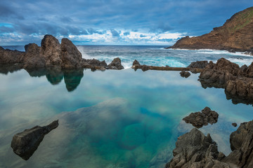Natural pools of Porto Moniz, Madeira island (Portugal)