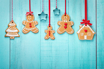 Gingerbread family border