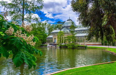 Crystal Palace (Palacio de cristal) in Retiro Park in Madrid, Spain