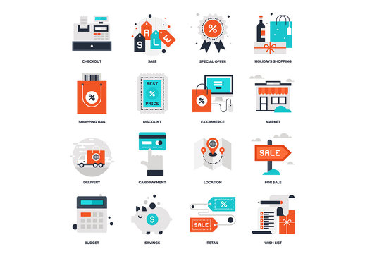 Shopping and Commerce Icon Set