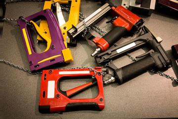 Pneumatic staplers. Air tools