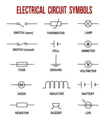 Electrical circuit symbols