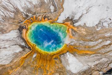 Gorące źródło w Parku Narodowym Yellowstone
