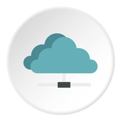 Cloud storage icon. Flat illustration of cloud storage vector icon for web