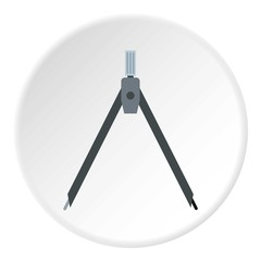 Drawing compass icon. Flat illustration of drawing compass vector icon for web