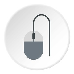 Mouse of computer icon. Flat illustration of mouse of computer vector icon for web