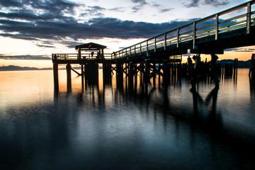 Davis Bay, Pier 17 sunset 3