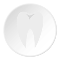 Tooth icon. Flat illustration of tooth vector icon for web
