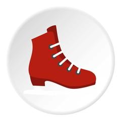 Skates icon. Flat illustration of skates vector icon for web