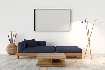 Blank Picture frame on the wall. Place your creation in this emp