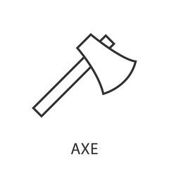 Axe icon or logo line art style.