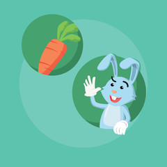 bunny and carrot vector illustration design