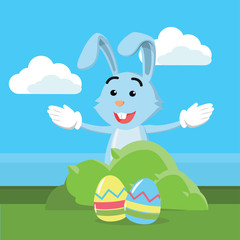 easter egg bunny vector illustration design