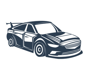 Classic car icon. Vehicle automobile and transportation theme. Isolated design. Vector illustration