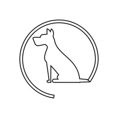 Dog silhouette icon. Pet animal domestic and care theme. Isolated design. Vector illustration