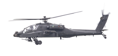 LEEUWARDEN, THE NETHERLANDS - JUN 11, 2016: Boeing AH-64 Apache