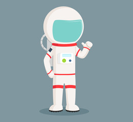 astronaut standing pose vector illustration design