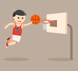 basket ball player shoot the goal