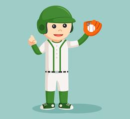 baseball player with glove