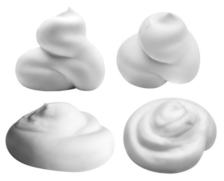 white foam isolated on white background with clipping path