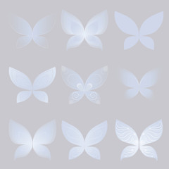 butterfly wings set, vector