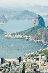 Panorama of Botafogo Bay and Sugar Loaf Mountain, Rio De Janeiro, Brazil