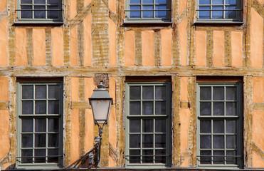 Façade à colombage de Troyes