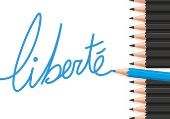 Liberté - Symbole - Crayons