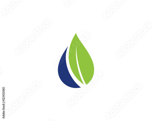 quotoil water drop amp leaf logo 3quot stock image and royalty