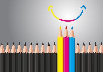 bonheur - optimisme - couleurs primaires