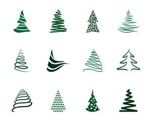 Weihnachtsbaum Iconset - Grün