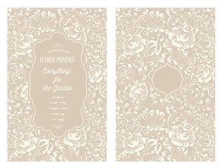 Design for you personal cover with rose flowers. Floral theme for book cover. Flower texture illustration in style of engraving. Ornate of floral seamless pattern in Gzhel style. Vector illustration