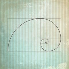 Golden ration presented on old background paper design. Golden proportion. Graphic design element.
