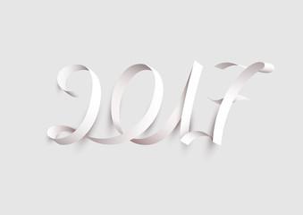 New Years 2017. Calligraphic inscription. Fototapete
