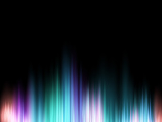 Abstract vector shiny background with glow colorful sound wave