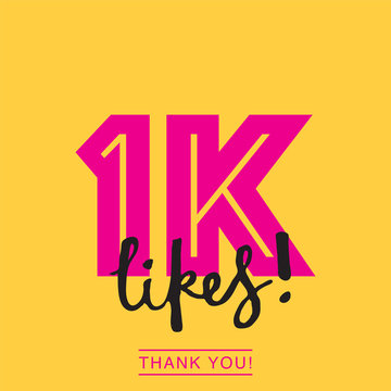 1000 likes social media thank you banner