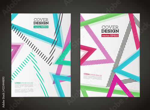 abstract vector triangle design for flyer business card poster banner cover